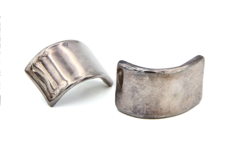 30a2d29e628 Bold 925 Sterling Earrings, Curved Rectangular Post Earrings, Long Stud  Earrings, Solid Silver