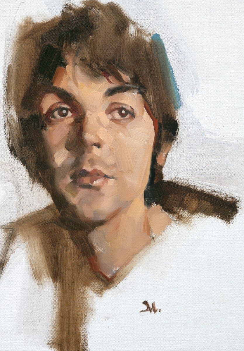 paul by greg manchess fab four beatles art painting portrait. Black Bedroom Furniture Sets. Home Design Ideas