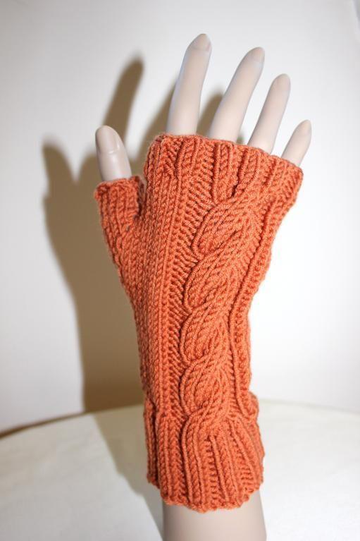 Single Cable Fingerless Gloves Fingerless Gloves Gloves And Patterns