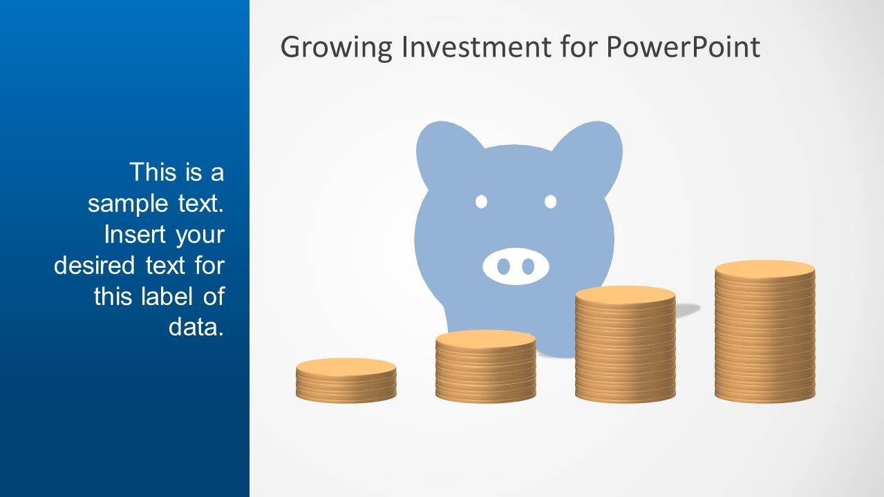 Blue Growth Investment PowerPoint Template