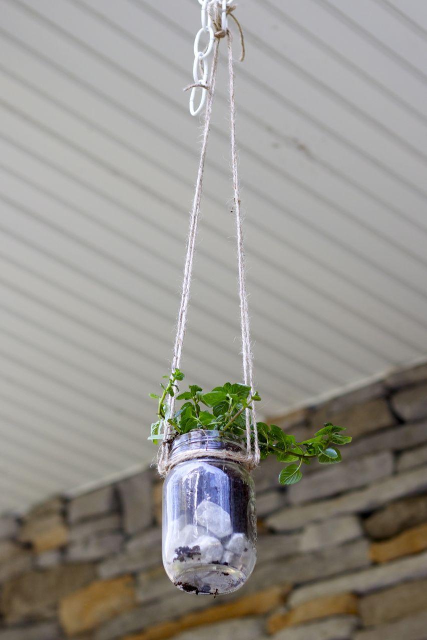 Beautiful Mason Jar Herb Garden