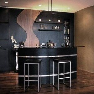 Modern Black Home Bar Furniture