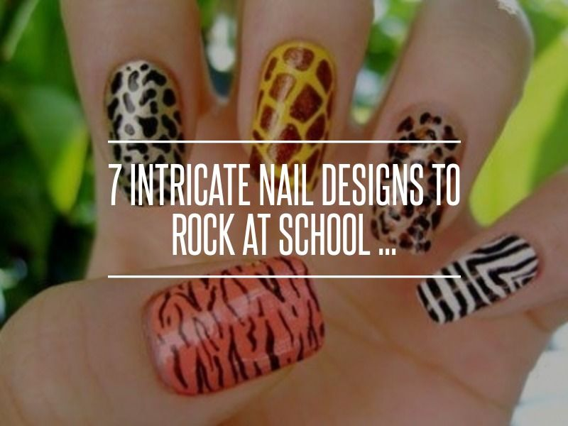 7 Intricate Nail Designs To Rock At School Red Bottom Nails