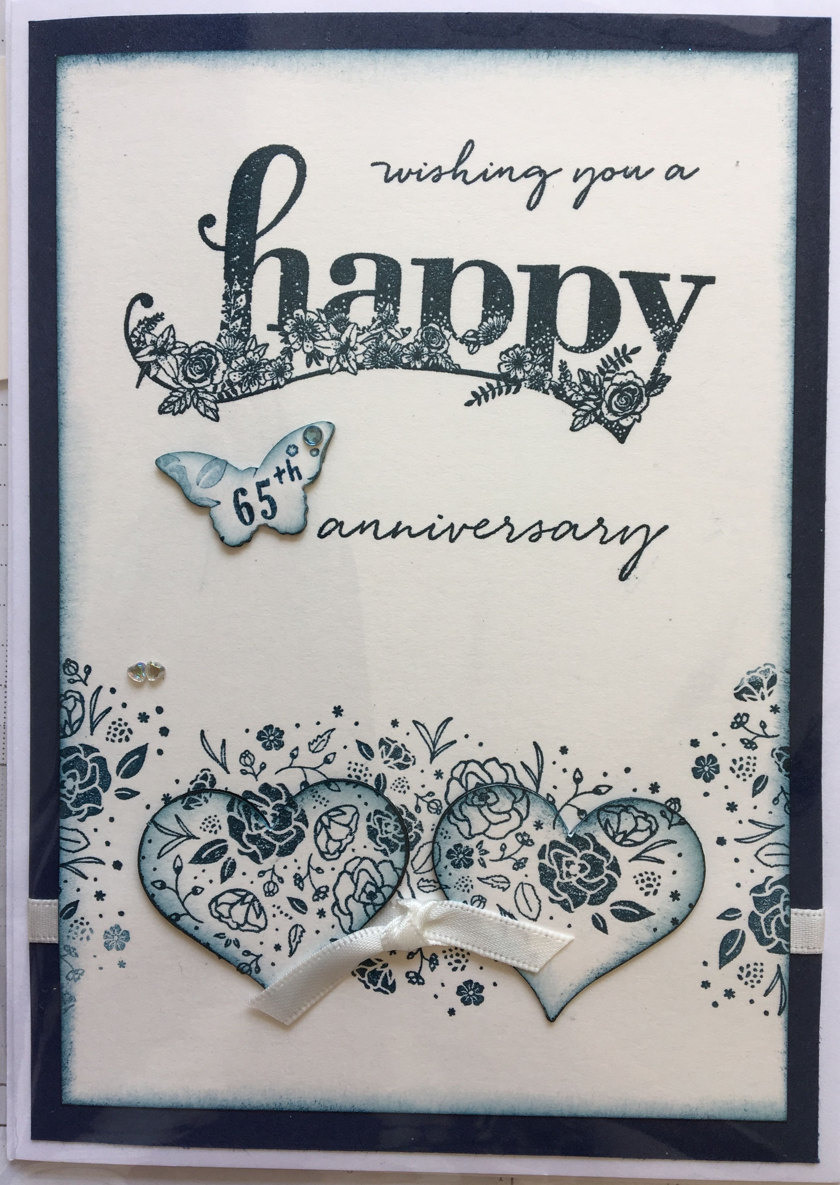 Pin by Jean Dodds on Cards 65th anniversary, Cards