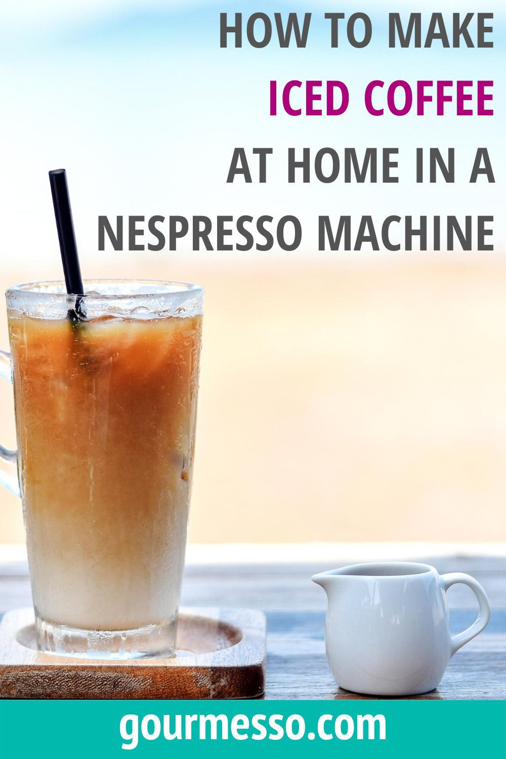 How To Make Iced Coffee With A Nespresso Machine In 2020 How To Make Ice Coffee Iced Coffee Iced Coffee At Home