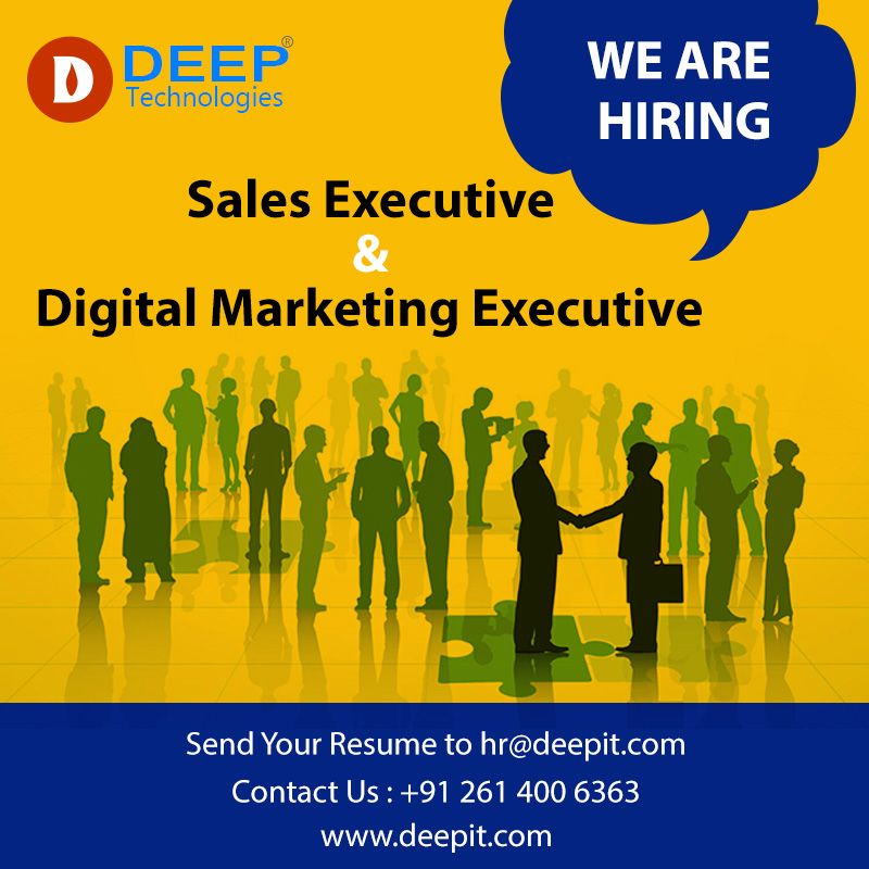 Job Opening For A Digital Marketing Executive  Sales Executive In