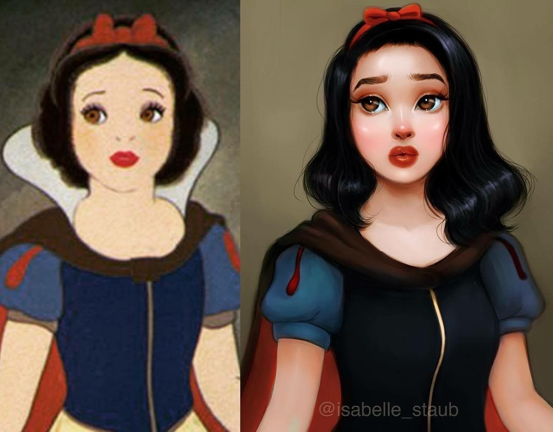Snow white s bright makeover and dress