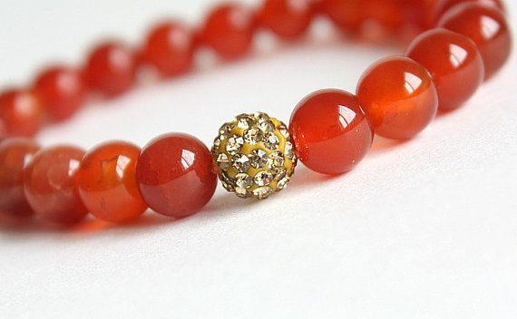 Mexican Fire Agate Stone Stacking Bracelet with by TesoroDelSol, $20.00