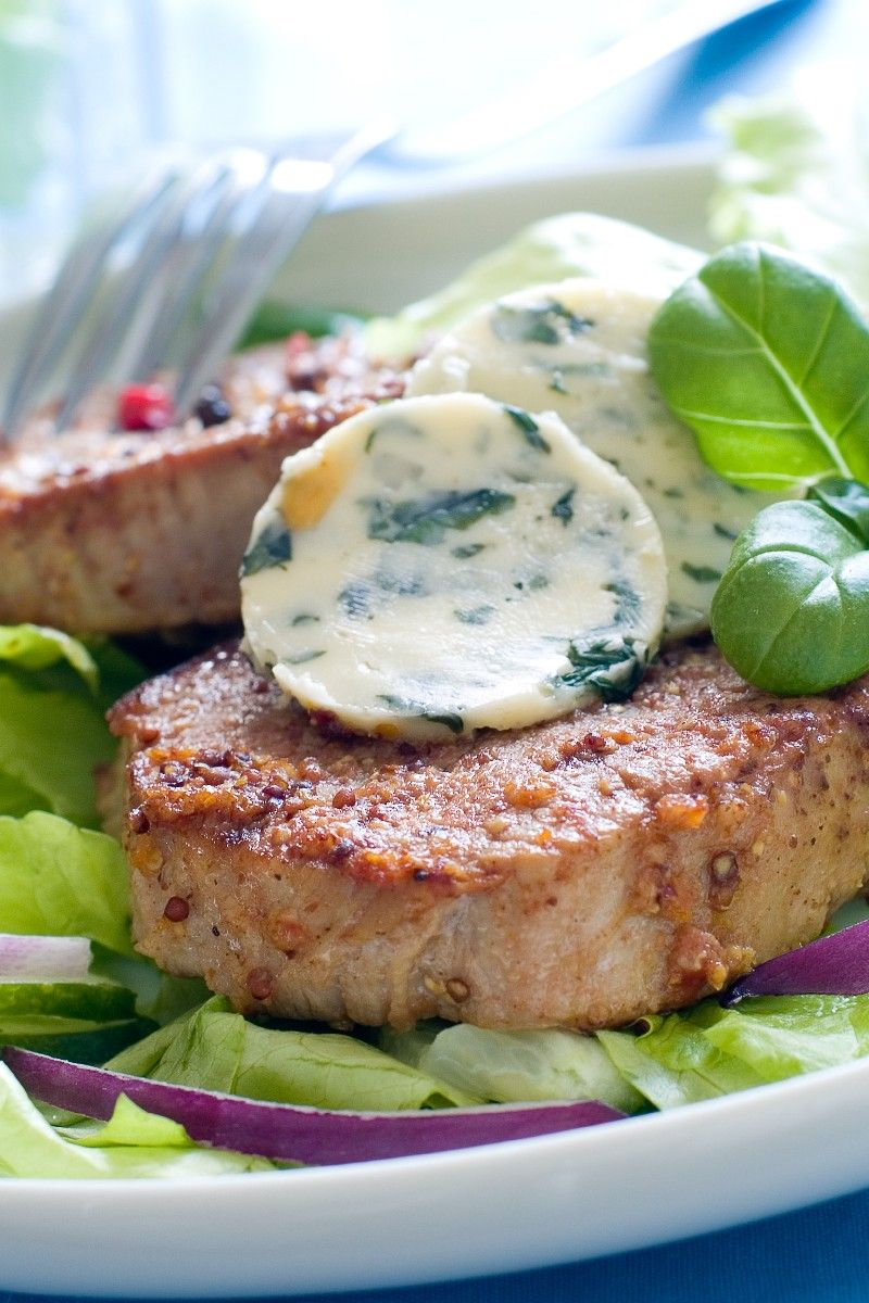 Blue Cheese Butter   Combine 1⁄2 cup butter or margarine, softened   1⁄2 cup blue cheese, crumbled   1 tbsp parsley, chopped   1 tbsp fresh basil, chopped or 1 teaspoon dried basil   1 clove garlic, minced