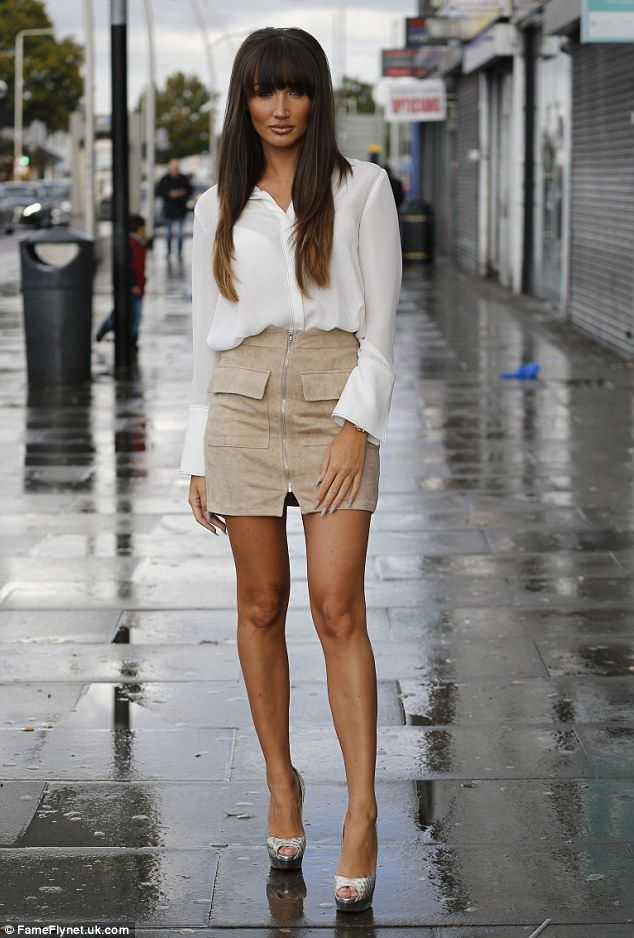 b538b47e38038e Stunning  Megan McKenna showed off her new locks when she arrived at Faces  nightclub in Gants Hill