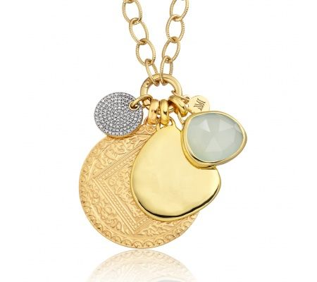 Ava Diamond Pave Pendant in 18ct Gold Plated Vermeil on Sterling Silver with Diamond | Jewellery by Monica Vinader