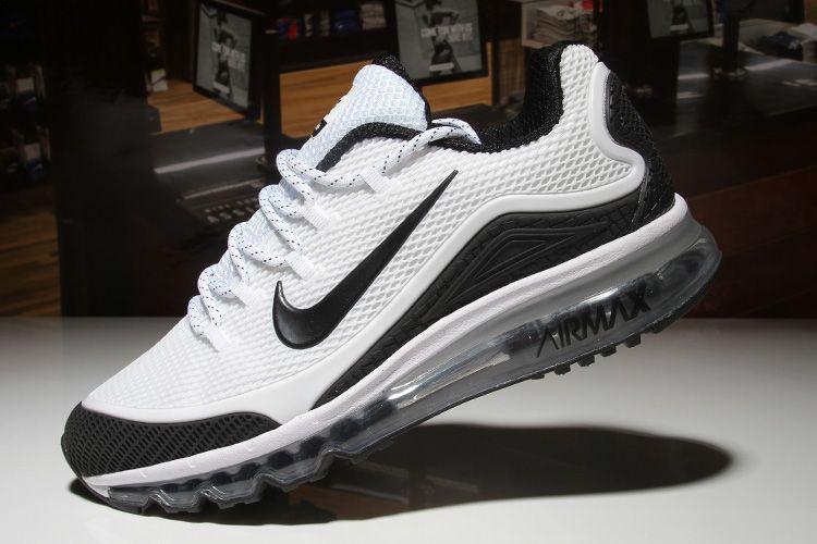 nike air max 2018 uomini elite kpu tpu scarpe bianco / nero scarpa