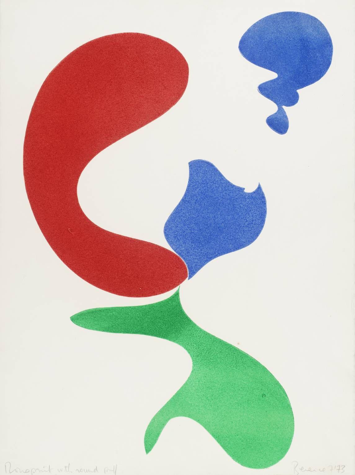 Berenice Sydney 'Monoprint with Round Puff', 1973 © The estate of Bernice Sydney