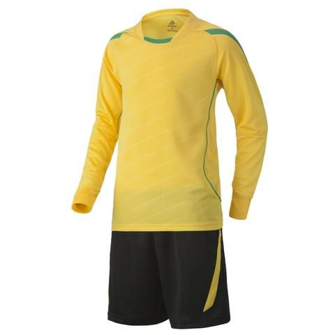 Long Sleeve Soccer Jersey Set (Yellow and Black)