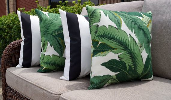 Palm Green Stuffed Outdoor Pillow Tommy Bahama Swaying Palms Aloe