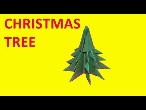 Origami for kids step by step Make a paper Christmas tree