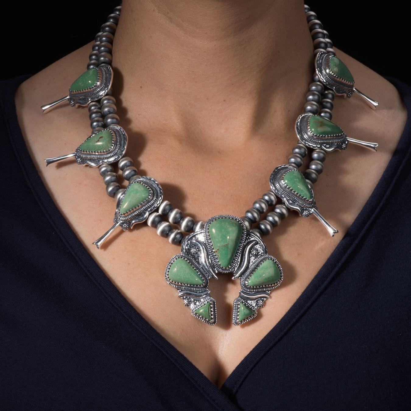 American West Jewelry Jennifer Nettles Squash Blossom