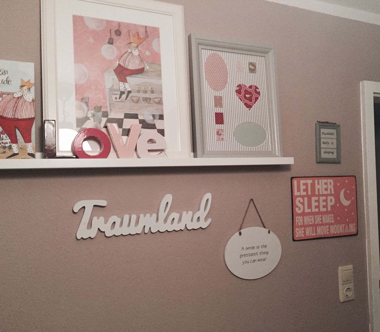 Wand Kinderzimmer Madchen Rosa Traumland Prinzessin Inspiration