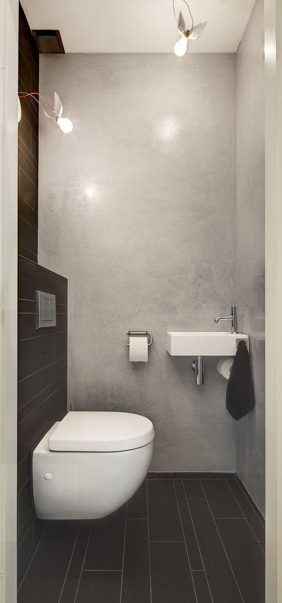 Stoer toilet combi tegels en tadelakt | Alles | Pinterest | Toilet ...