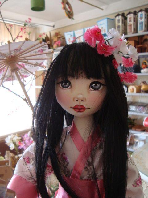 Bonecas de pano . Japonesas. Soraia Flores.