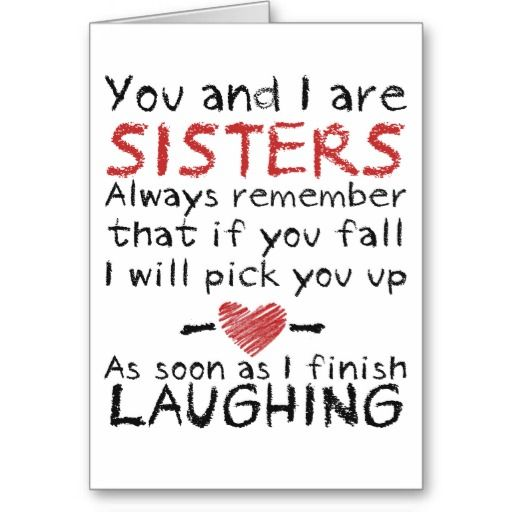 You and I Birthday Card for Sister Quotes – Birthday Card Site