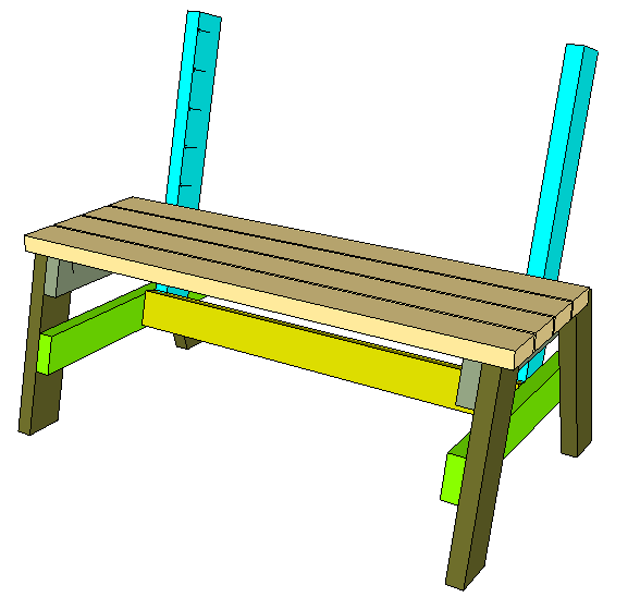 How To Build A Comfortable 2 4 Bench And Side Table Diy Garden