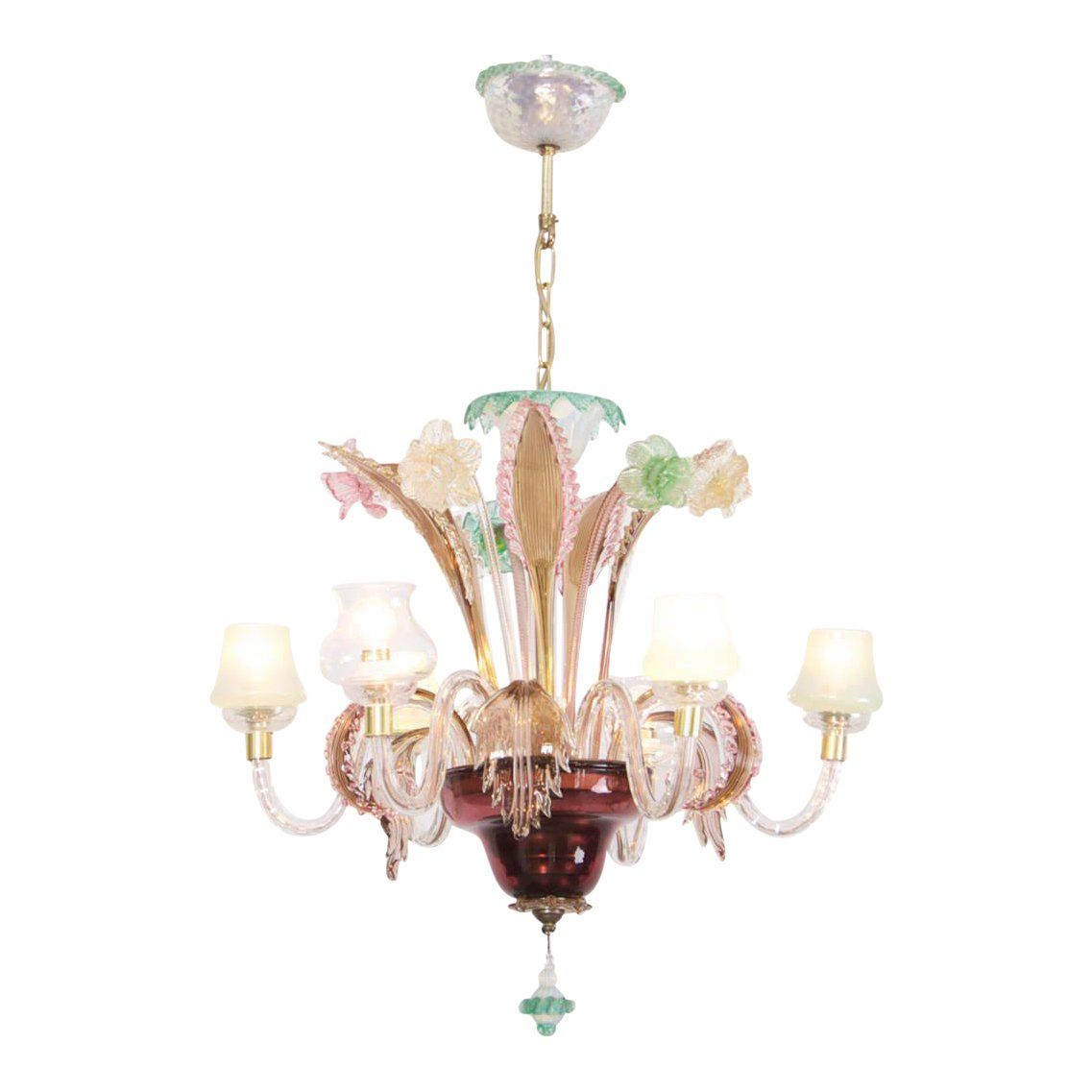 Multicolored Venetian Murano Glass Chandelier Image