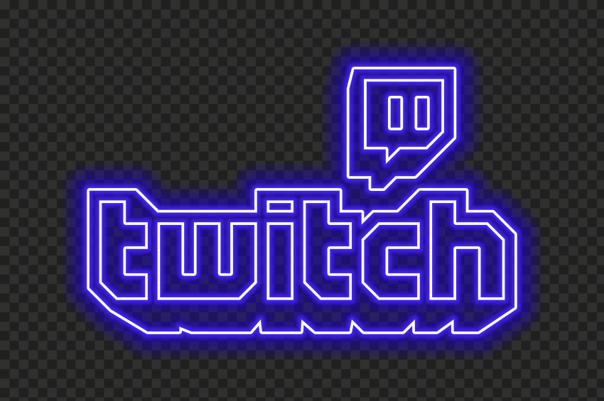 Hd Beautiful Blue Neon Twitch Logo Transparent Background Png In 2021 Transparent Background Logos Neon