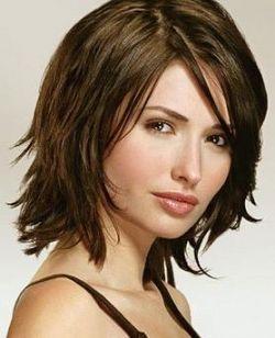 Mid length cut for straight hair