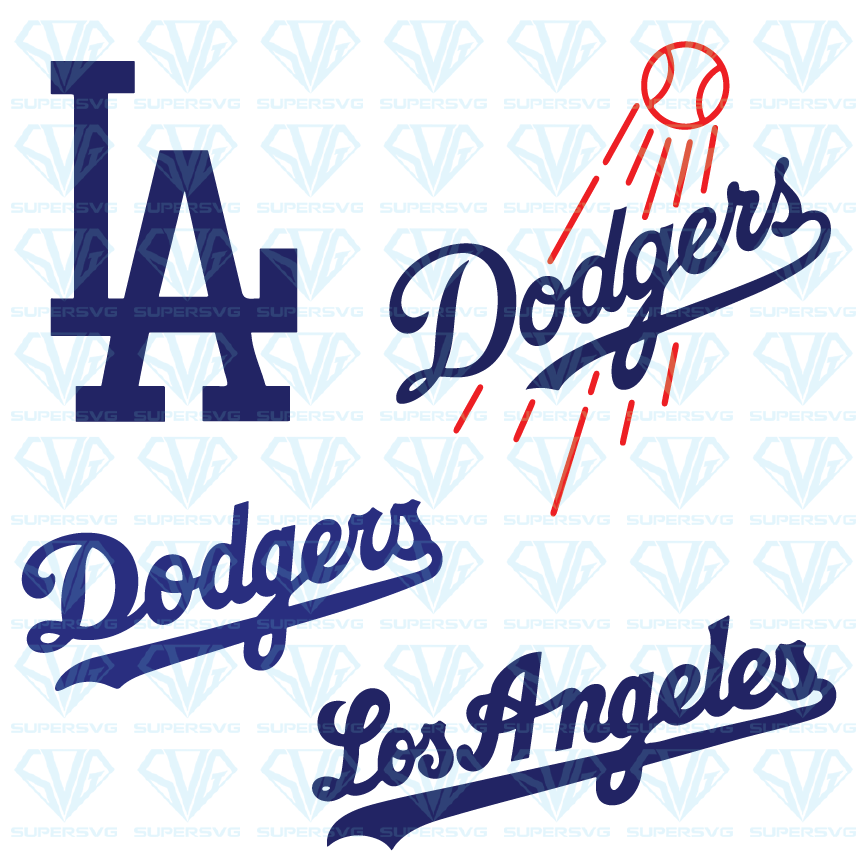 Los Angeles Dodgers Bundle Svg Files For Silhouette Files For Cricut Svg Dxf Eps Png Instant Download Dodgers Lettering Subway Art Printables