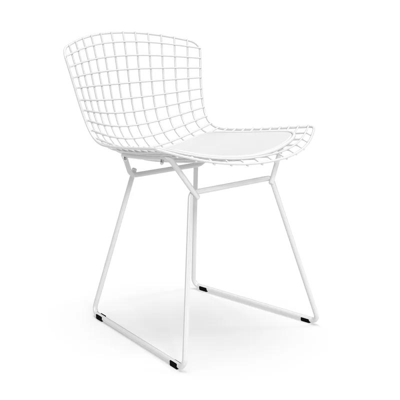 Melker Leather Side Chair Bertoia Side Chair Leather Side Chair Side Chairs