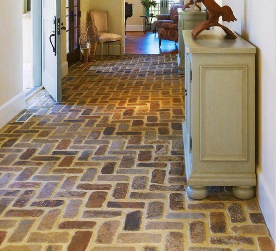 Entryway flooring with brick floor tile Dream Home Ideas