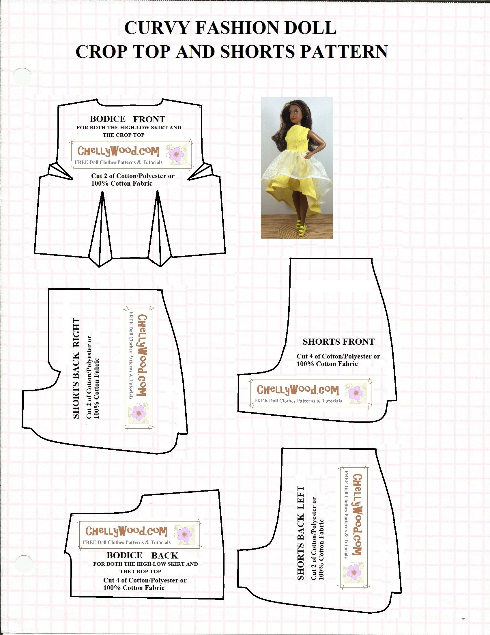 curvy-barbie-crop-top-and-shorts-pattern.jpg 1.698×2.200 pixels ...