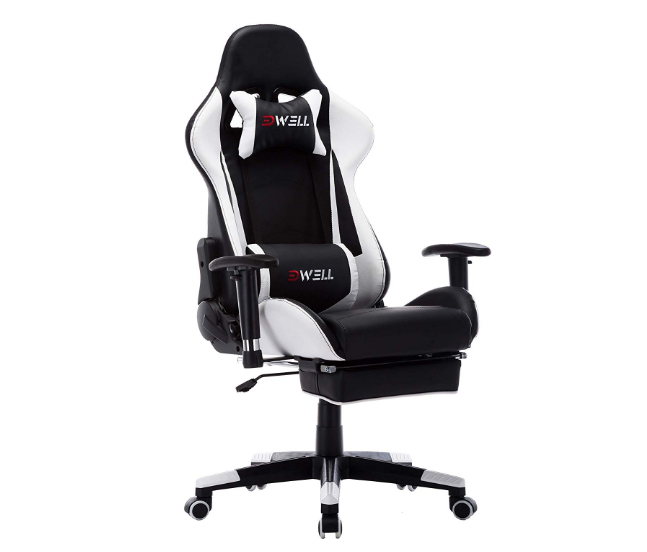 Terrific Edwell Ergonomic Gaming Chair With Headrest Lumbar Massage Caraccident5 Cool Chair Designs And Ideas Caraccident5Info