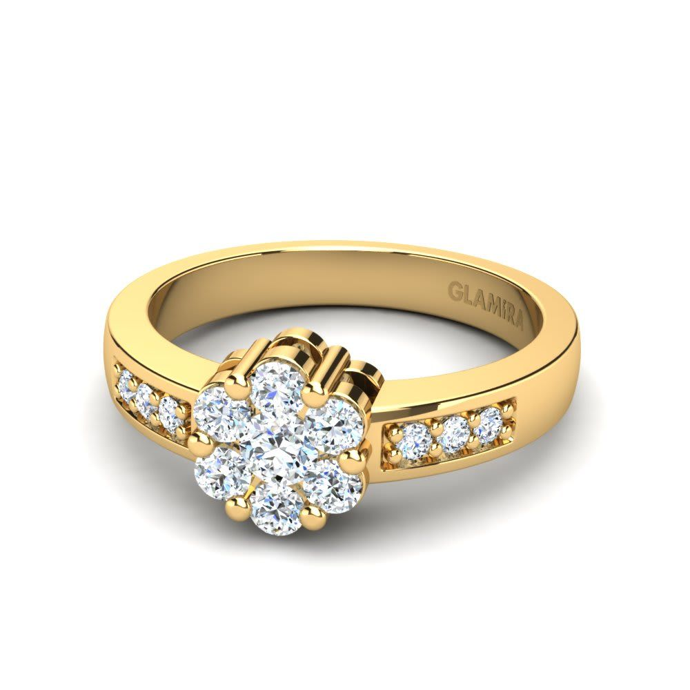 A gold engagement rings is a finger ring that indicates