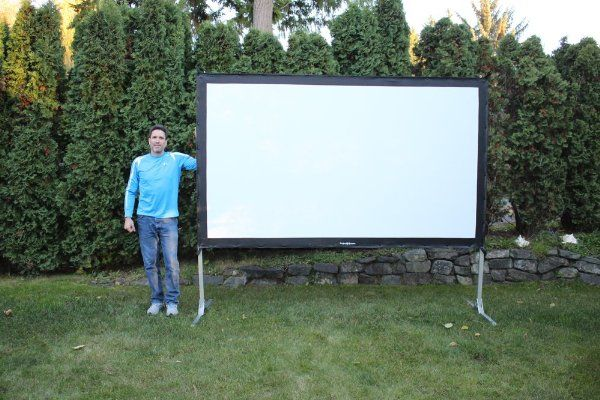 Visual Apex Projectoscreen120hd Portable Indoor Or Outdoor Movie Theater Projection S Portable Projector Screen Outdoor Movie Theater Outdoor Projector Screens