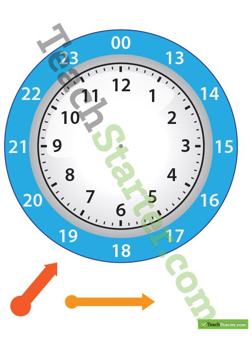 12 and 24 Hour Clock Template | TeachStarter Numeracy