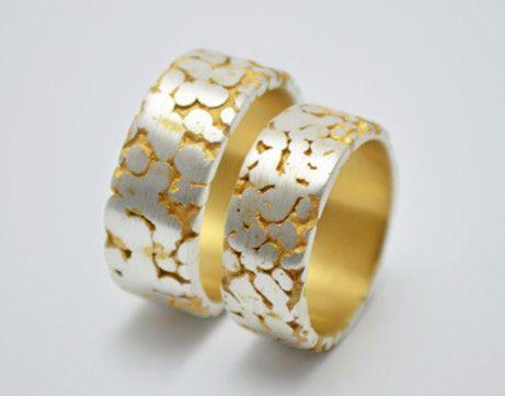 Freundschaftsringe silber gold  Trauringe - Partnerringe Silber / Gold