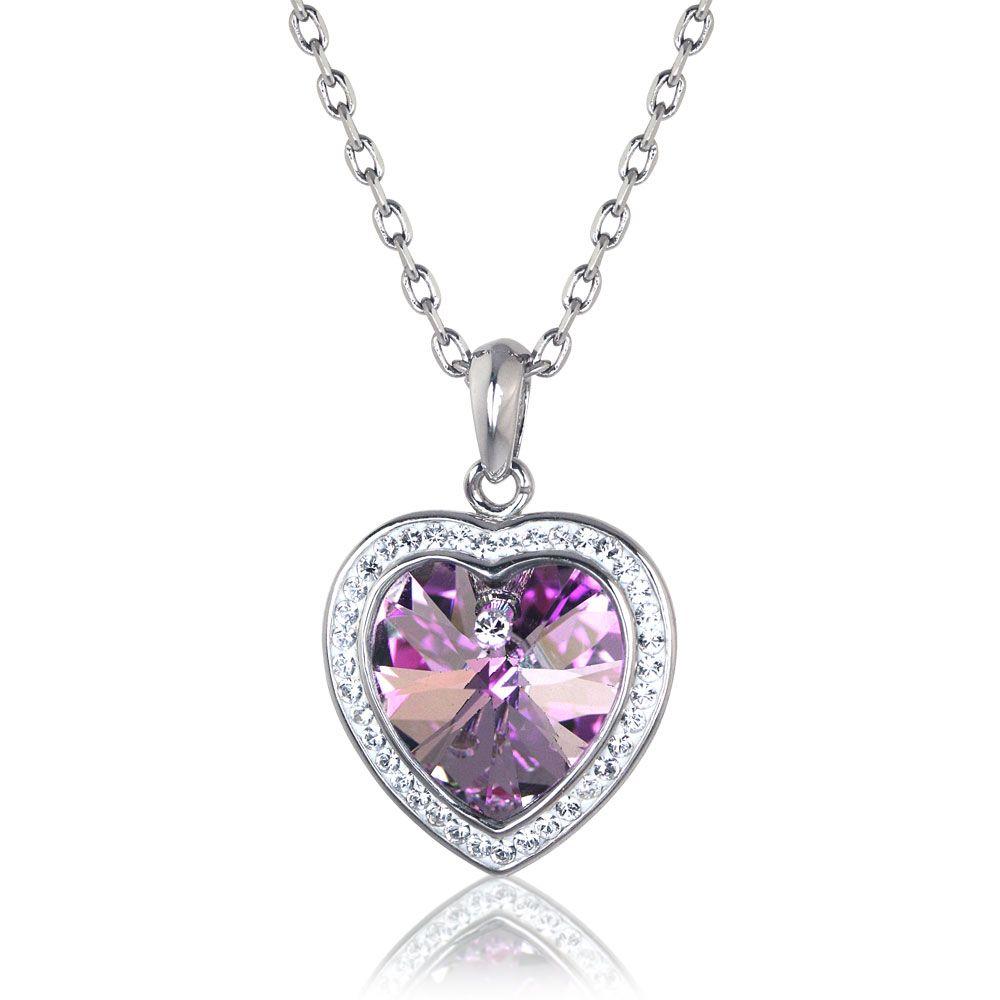 Sabrina Heart Necklace Made With Swarovski\u003csup\u003e®\u003c\/sup\u003e Crystals