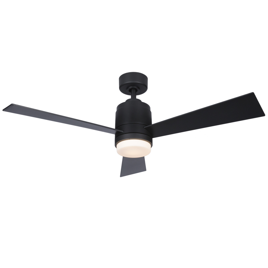 Fanimation Studio Collection All Weather Pylon 48 In Matte Black Led Indoor Outdoor Ceiling Fan With Light Kit And Remote 3 Blade Lowes Com In 2020 Outdoor Ceiling Fans Black Ceiling Fan Ceiling Fan