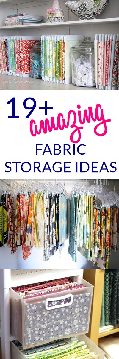 storage for sewing room fabric storage