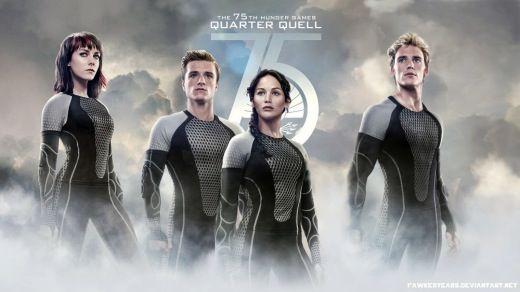 Catching Fire; Johanna Mason, Peeta Mellark, Katniss Everdeen, Finnick Odair