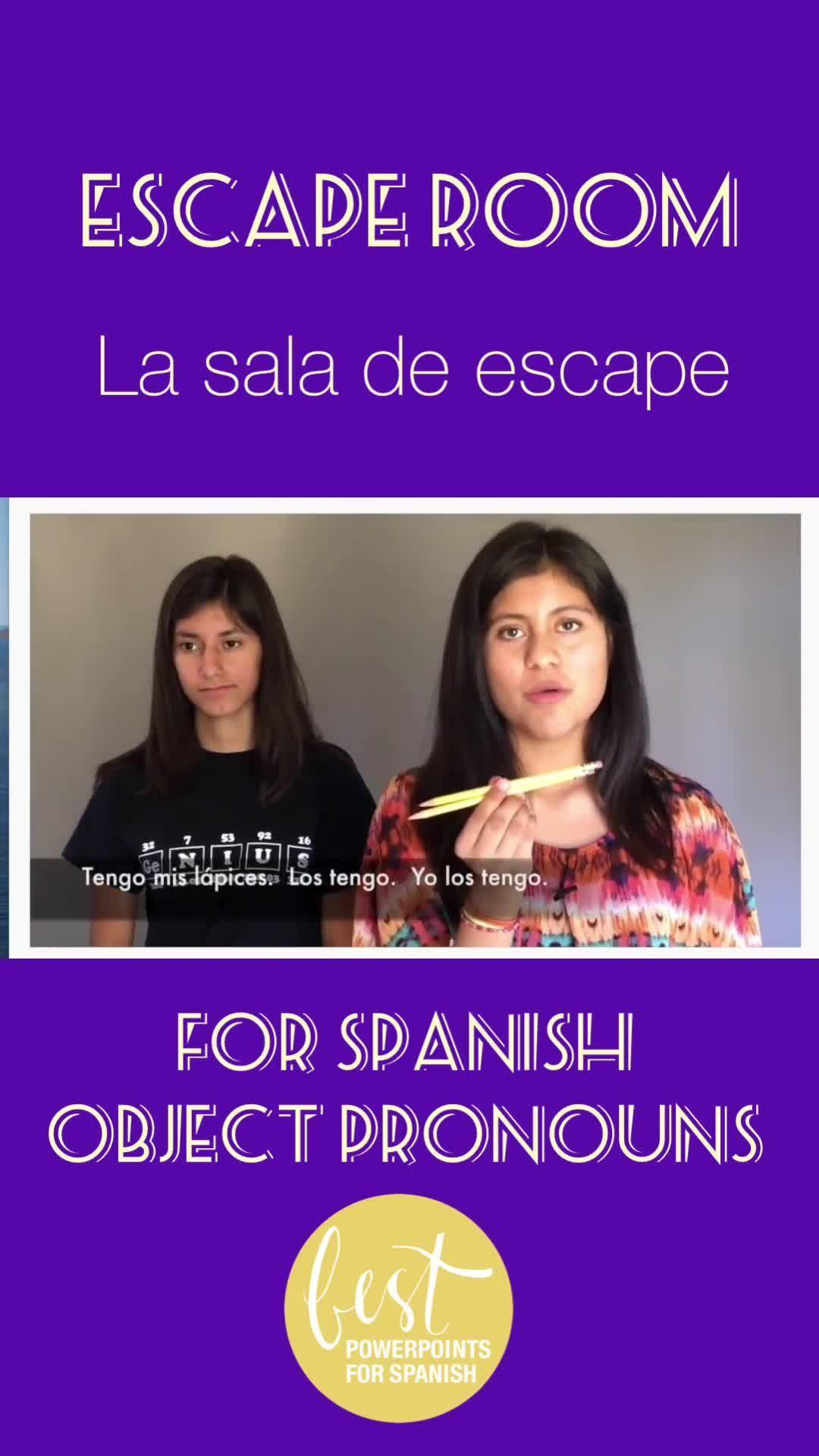Spanish Escape Room For Object Pronouns Escape Object
