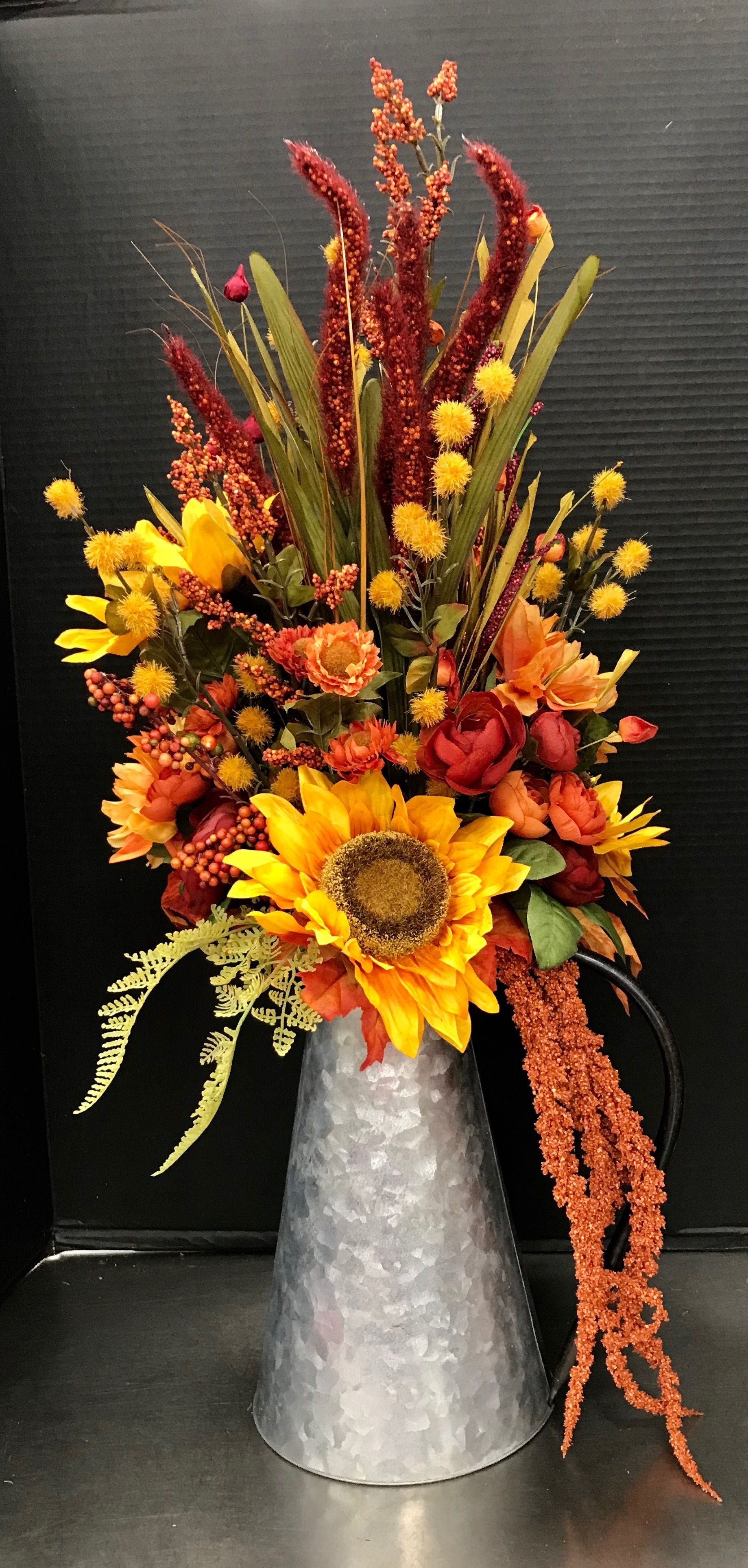Autumn Traditional Pitcher By Andrea Fall Floral Arrangements Fall Flower Arrangements Fall Arrangements