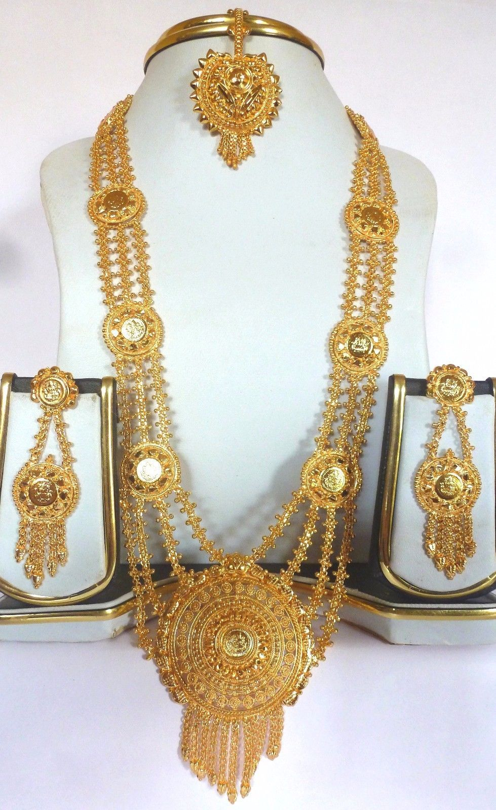 376ae137c88b4 Sale...Indian Gold Plated Ginni Rani Haar 11'' Long Necklace ...