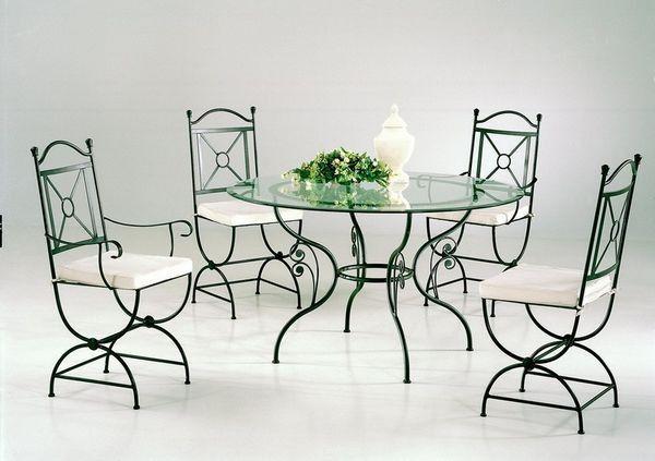 table ronde en fer forge graziella