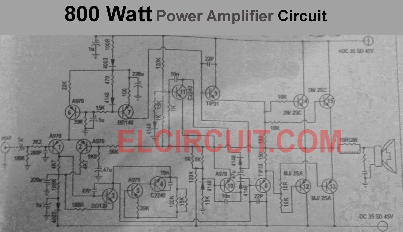 400w And 800w Power Amplifier Circuit Schematic Dia 150w Monoblock Wiring Diagram Mono