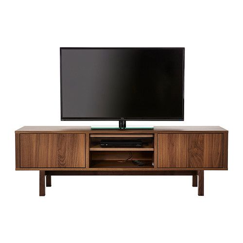 simple stockholm tv unit ikea the tv bench in walnut veneer with legs of solid ash brings with