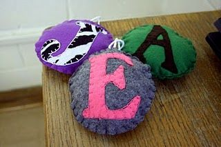 Felt Monogrammed Ornament Pattern