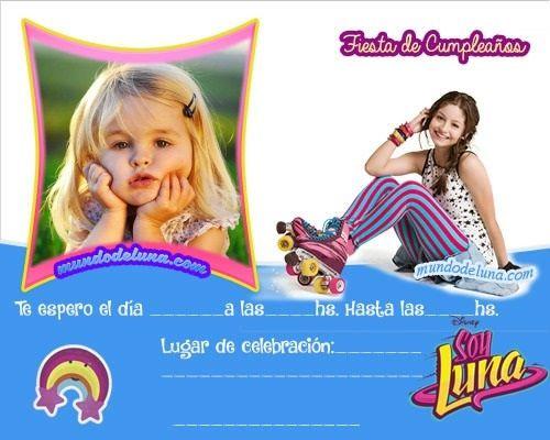 Invitaciones Soy Luna Con Foto Invitaciones De Soy Luna